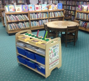 Children's Library - Art Cart and Lots of Books
